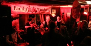 Devon based Irish band Paddy's Whiskers celebrate St. Patrick's Day