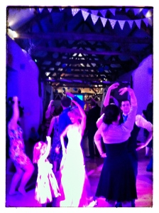 Guests dancing to Paddy's Whiskers Devon Ceilidh and Barn dance band